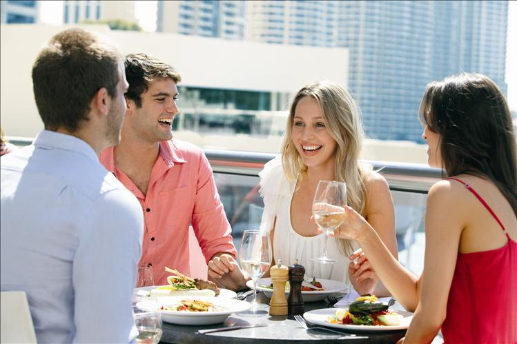 Dining Riverside Presinct - By Tourism Queensland