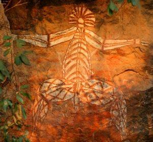 Aboriginal Rock Painting.