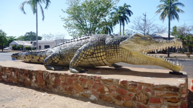 "Normanton home of the ""Savannah King"" Krys the largest Crocodile ever shot."